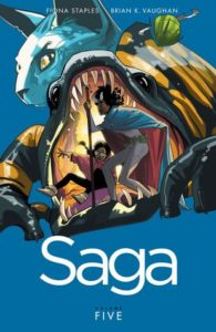 Saga Volume 5 by Brian Vaughan and Fiona Staples
