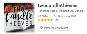 Two Candle Thieves Etsy Shop