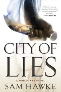 book review city of lies by sam hawke
